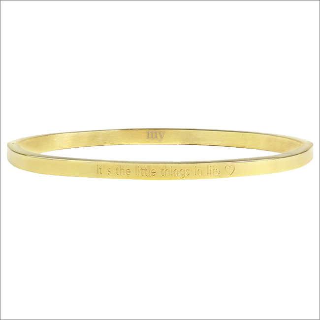 Gouden MY JEWELLERY Armband ITS THE LITTLE THINGS IN LIFE - large