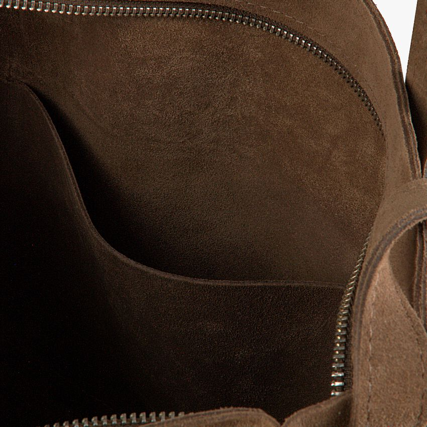 Bruine SHABBIES Handtas SHOPPER L - larger