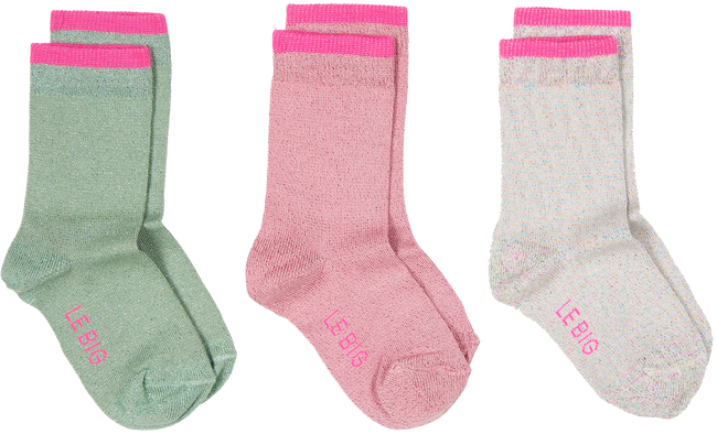 Beige LE BIG Sokken KIA SOCK 3-PACK  - large