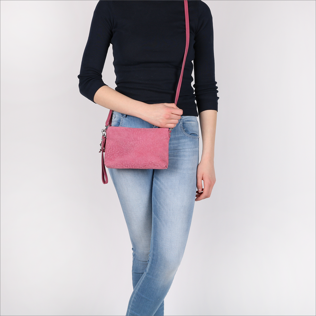 Roze BY LOULOU Clutch 01POUCH117S - large