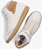 Witte WYSH Hoge sneaker LEA  - medium