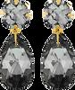 Zwarte JEWELLERY BY SOPHIE Oorbellen DOUBLE GLAMOUR EARRINGS - small