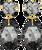 JEWELLERY BY SOPHIE OORBELLEN DOUBLE GLAMOUR EARRINGS - swatch
