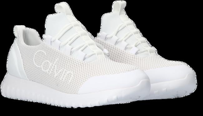 Witte CALVIN KLEIN Lage sneakers RUNNER SNEAKER LACEUP MESH  - large