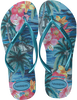 Blauwe HAVAIANAS Slippers SLIM TROPICAL - small