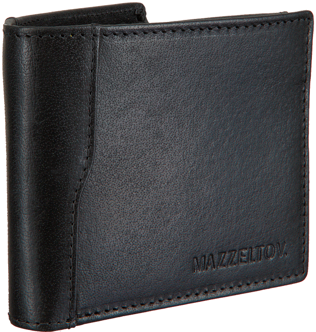Zwarte MAZZELTOV Portemonnee TIBOR01  - large