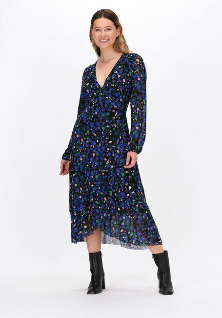 Donkerblauwe FABIENNE CHAPOT Midi jurk NATASJA FRILL DRESS  - large