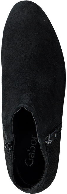 Zwarte GABOR Enkellaarsjes 95.610 - large