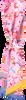 Roze ROMANO SHAWLS AMSTERDAM Sjaal TUBILAIR FLOWER  - small