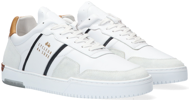 Witte CYCLEUR DE LUXE Lage sneakers AURONZO  - large