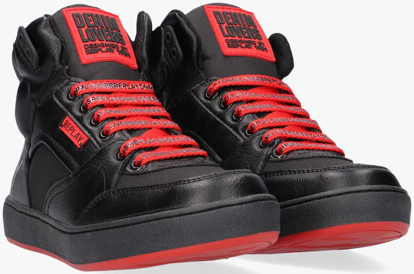 Zwarte REPLAY Hoge sneaker WALL  - larger