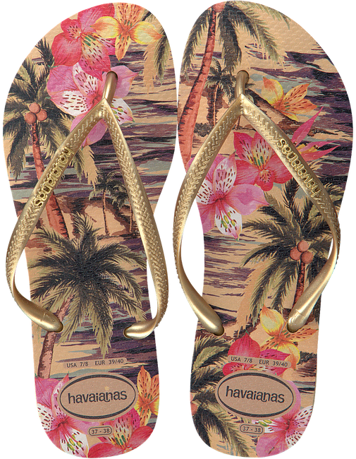 Witte HAVAIANAS Slippers SLIM TROPICAL - large