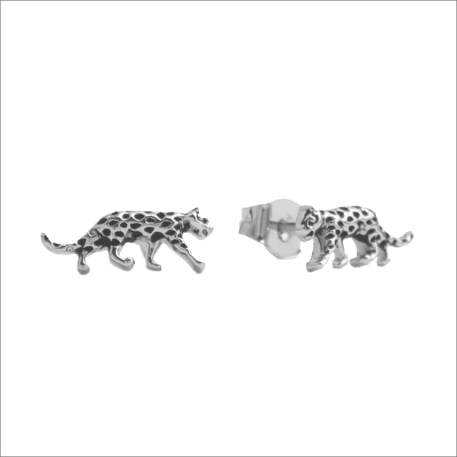 Zilveren ATLITW STUDIO Oorbellen PARADE EARRINGS LEOPARD - large