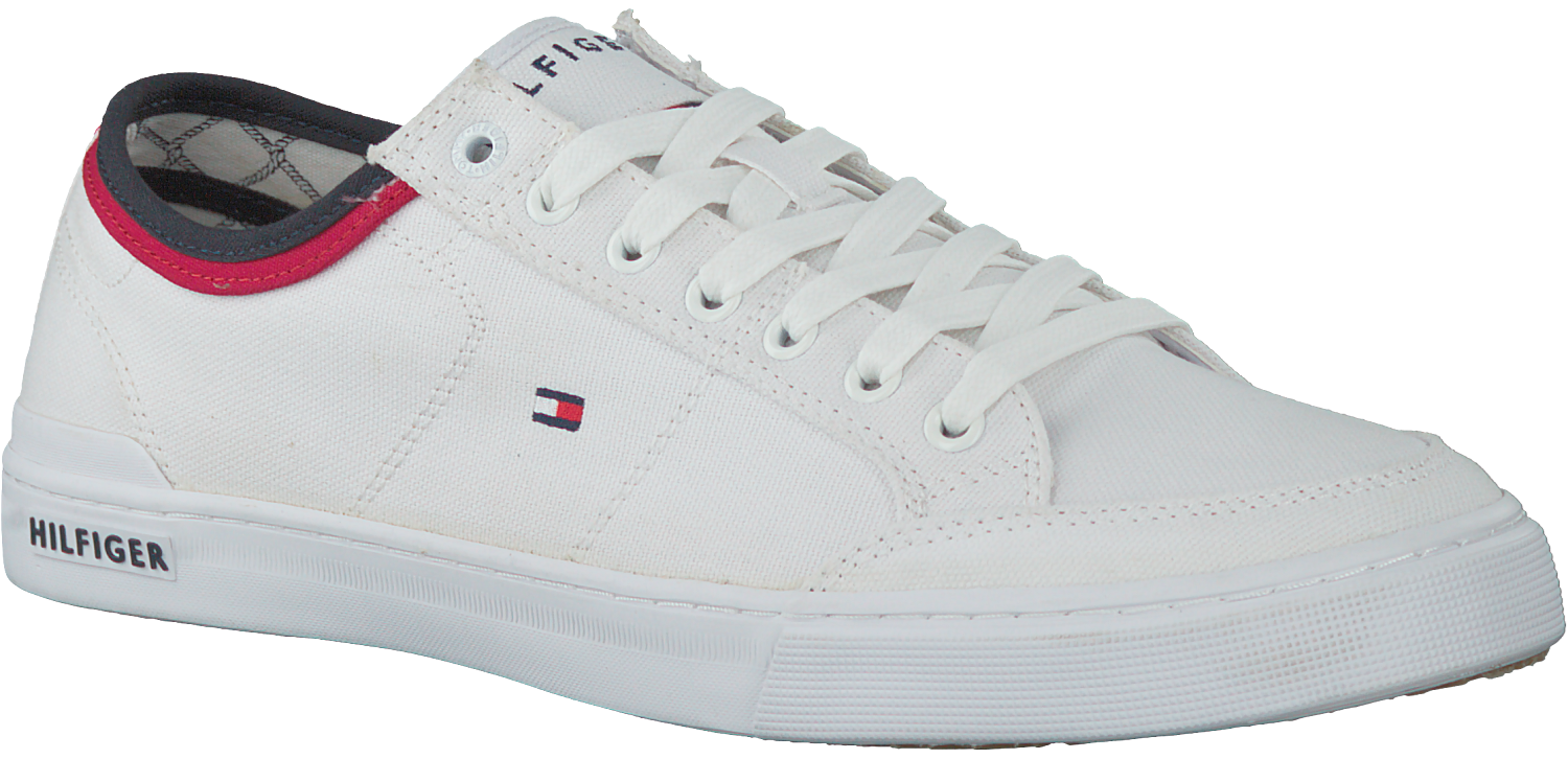 7a257271596bf5 Witte TOMMY HILFIGER Sneakers CORE CORPORATE TEXTILE SNEAKER - large. Next
