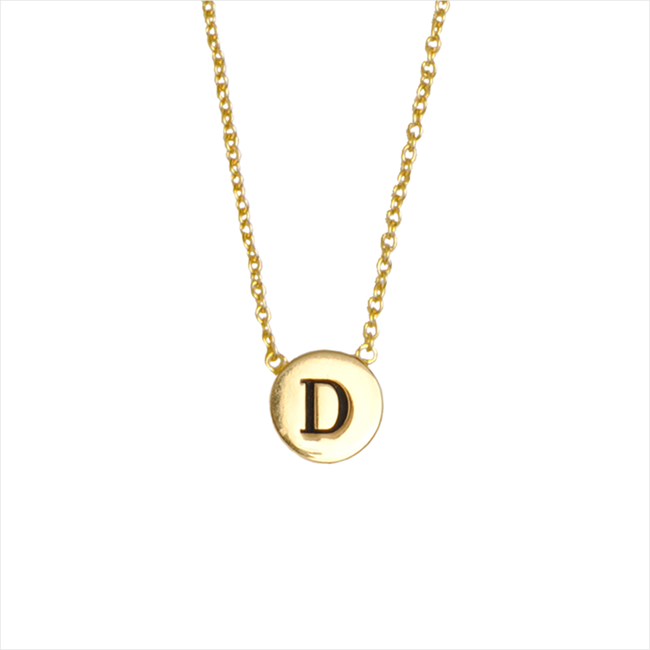 Gouden ATLITW STUDIO Ketting CHARACTER NECKLACE LETTER GOLD - large