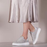Grijze VIA VAI Lage sneakers JUNO UNI  - medium
