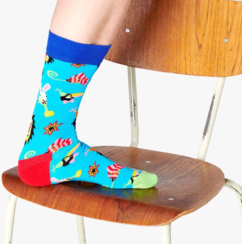 Blauwe HAPPY SOCKS Sokken PARTY ANIMAL  - larger