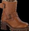 Cognac VERTON Biker boots PARIJS  - small