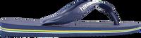 Blauwe HAVAIANAS Slippers BRASIL LOGO KIDS  - medium