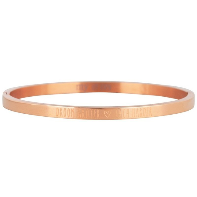 Gouden MY JEWELLERY Armband DROOM GROTER, LACH HARDER BANG - large
