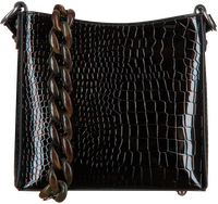 Zwarte HVISK Schoudertas AMBLE CROCO SMALL  - medium