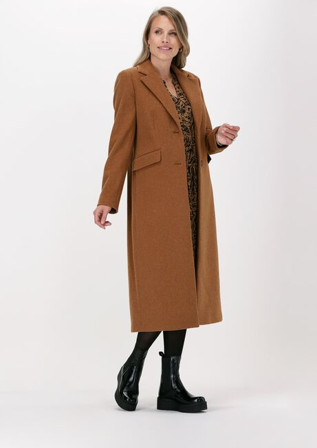 Camel BEAUMONT Mantel FLAUSCH WOOL LONG BLAZER COAT - large