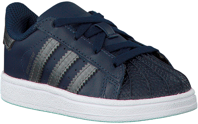 Blauwe ADIDAS Sneakers SUPERSTAR KIDS 1  - large