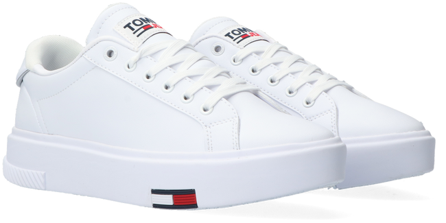 Witte TOMMY HILFIGER Lage sneakers TOMMY JEANS FASHION CUPSOLE  - large