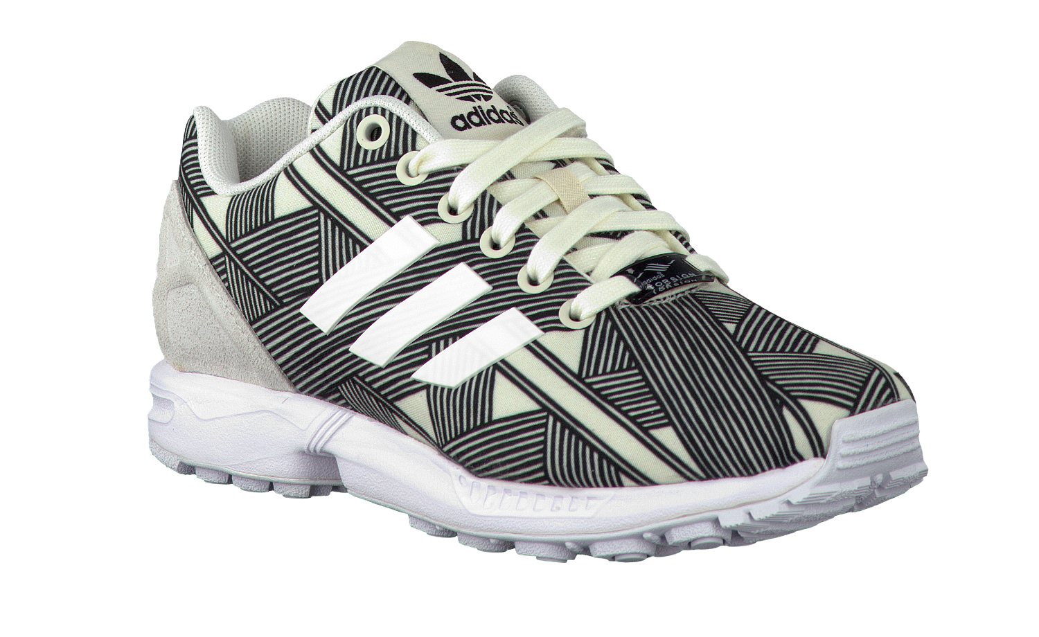 Witte ADIDAS Sneakers ZX FLUX DAMES