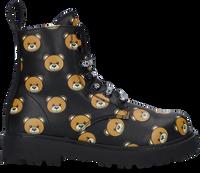 Zwarte MOSCHINO Veterboots BOOTIE ALL-OVER TEDDY BEAR  - medium