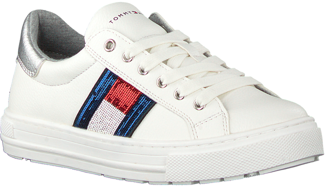 Witte TOMMY HILFIGER Lage sneakers LOW CUT LACE-UP LOW CUT LACE UP T3A4-30616 - large