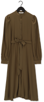 Groene NA-KD Midi jurk BALLON SLEEVE MIDI DRESS