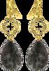 Grijze JEWELLERY BY SOPHIE Oorbellen CLOVER EARRINGS - small