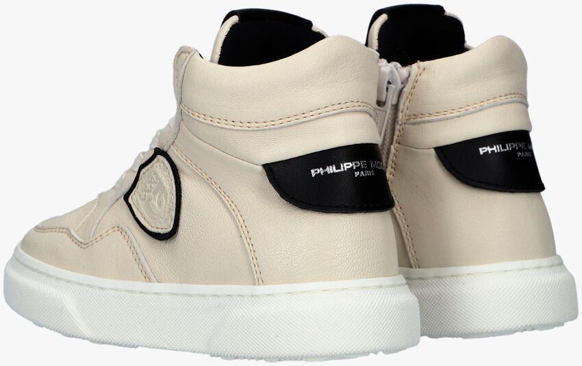 Beige PHILIPPE MODEL Hoge sneaker LAKERS VEAU MID  - larger