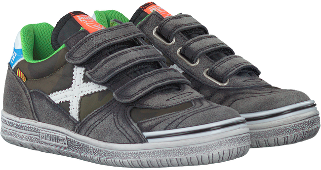 Grijze MUNICH Sneakers G3 KID VELCRO - large