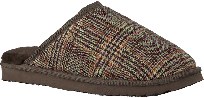 Bruine WARMBAT Pantoffels CLASSIC CHECK  - large