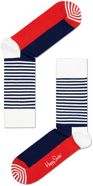 HAPPY SOCKS SOKKEN HALF STRIPE - large