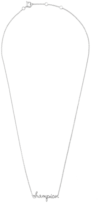 Zilveren ALLTHELUCKINTHEWORLD Ketting URBAN NECKLACE CHAMPION - large