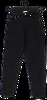 Zwarte NA-KD Straight leg jeans COMFORT MOM JEANS