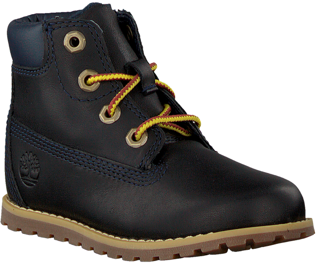 Blauwe TIMBERLAND Veterboots POKEY PINE 6IN BOOT KIDS  - large