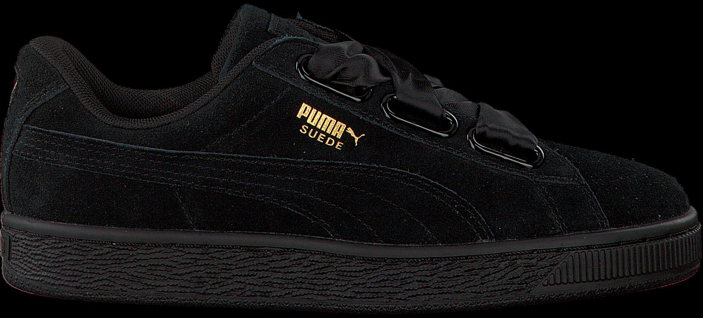 Zwarte PUMA Sneakers SUEDE HEART SATIN Omoda.nl
