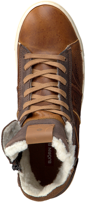 Cognac BJORN BORG Sneakers KANSAS HIGH FUR K  - large