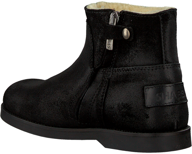 Zwarte SHABBIES Enkelboots 0141  - large