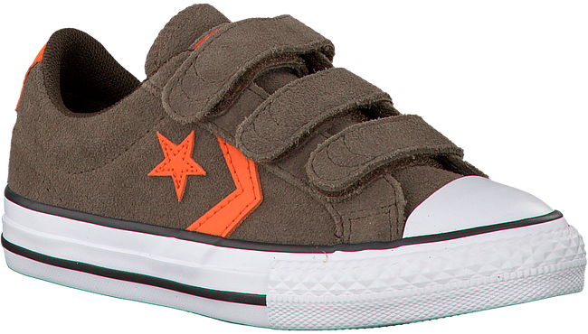 Bruine CONVERSE Sneakers STAR PLAYER 3V OX KIDS  - large