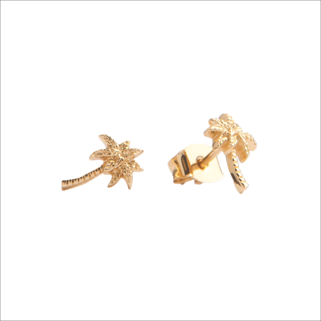 Gouden ATLITW STUDIO Oorbellen PARADE EARRINGS PALM - large
