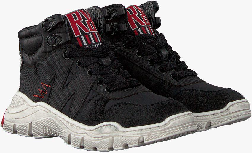 Zwarte RED-RAG Hoge sneaker 13117  - larger