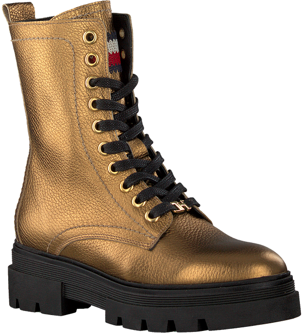 Gouden TOMMY HILFIGER Veterboots RUGGED CLASSIC BOOTIE  - large