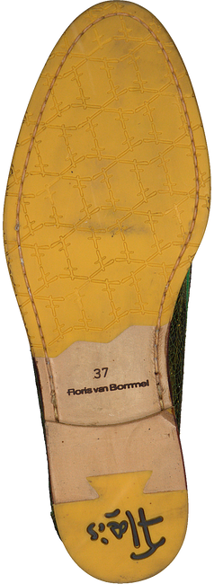 Gele FLORIS VAN BOMMEL Loafers 85409  - large