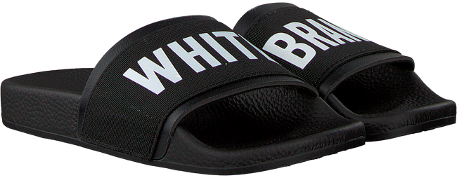 Zwarte THE WHITE BRAND Slippers ELASTIC MINIMAL KIDS - large