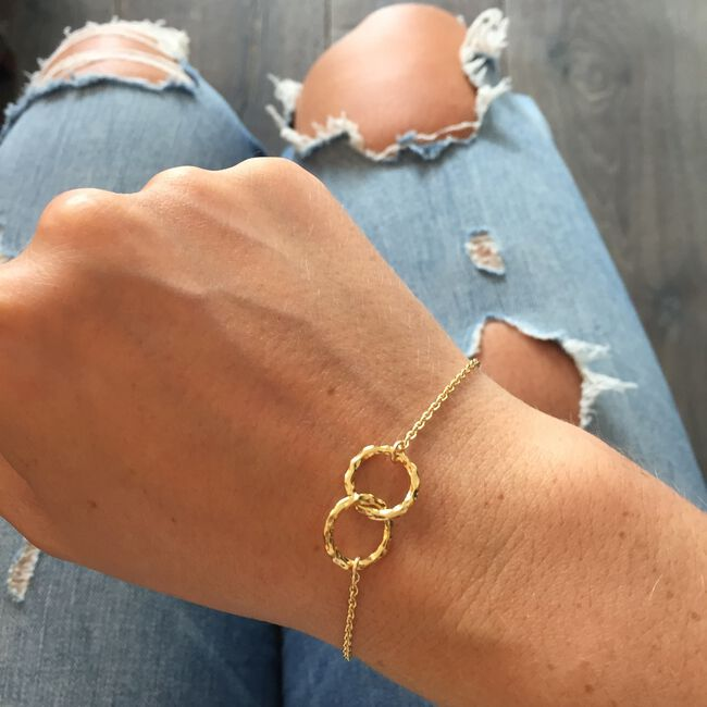 Gouden JEWELLERY BY SOPHIE Armband BRACELET CONNECTED - large